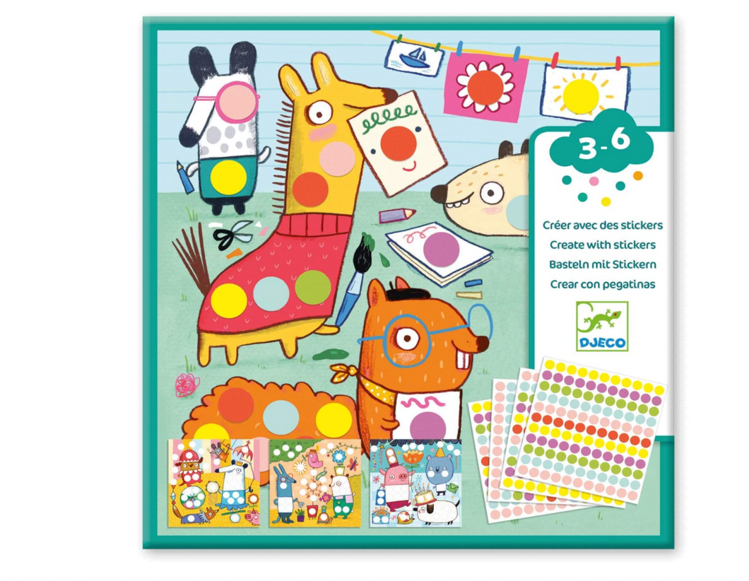 DJECO Sticker Activity Set - Colored Dots