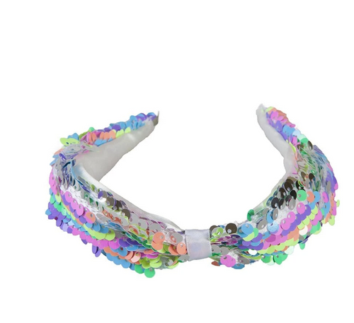 Sequined Rainbow Headband