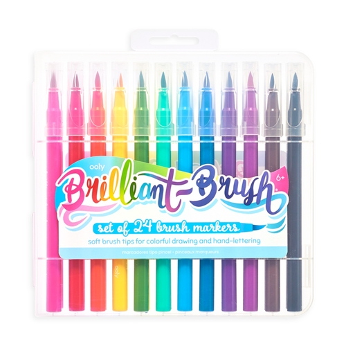 Brilliant Brush Markers - Ooly