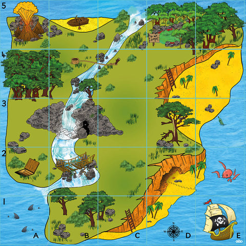 Bee-Bot® and Blue-Bot Treasure Island Mat