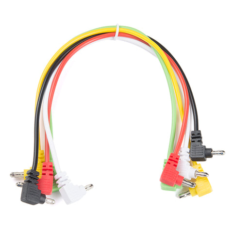 Banana to Banana Cable - Right Angle, pack of 5