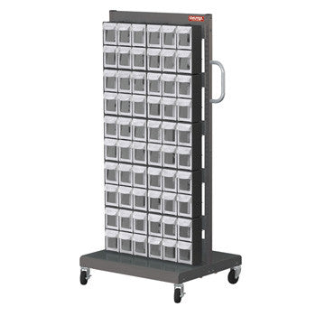 Mobile Cart with Flip out bins - single sided (60 bins)