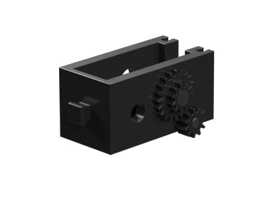 Motor reducing gearbox, black