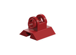 Hinged block tab, red