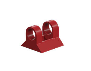 Hinged block claw, red