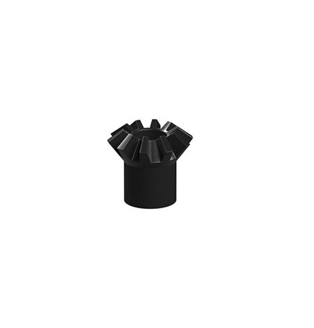 Bevel gear with sleeve, black