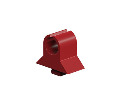 Reed contact and cable clamp, red