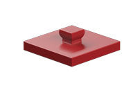 Mounting plate 15 x 15, red/ black/ yellow