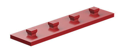 Mounting plate 15 x 60, red/ yellow/ black