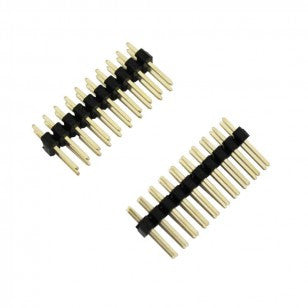 Straight Double Row PCB Pin Headers, 2.54mm, 2 x 10-way, pack of 2