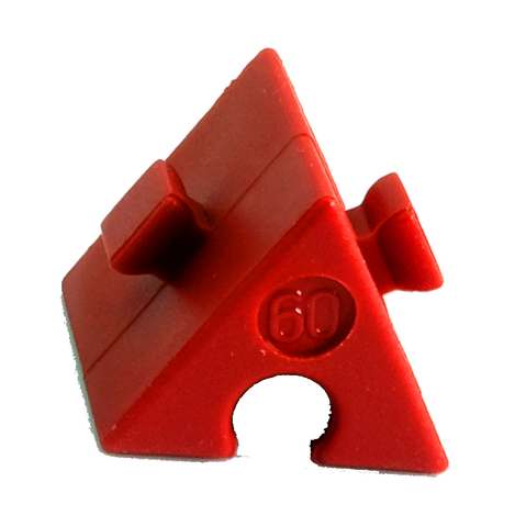 60° red angled block
