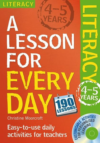 A Lesson for Every Day: Literacy Ages 4-5