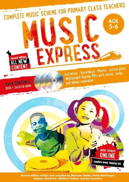 Music Express 1 : Age 5-6 (Book + 3 CDs + DVD-ROM)