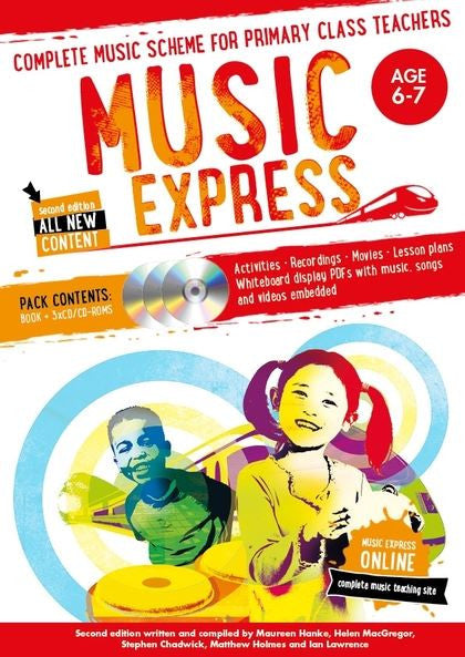 Music Express 2 : Age 6-7 (Book + 3CDs + DVD-ROM)