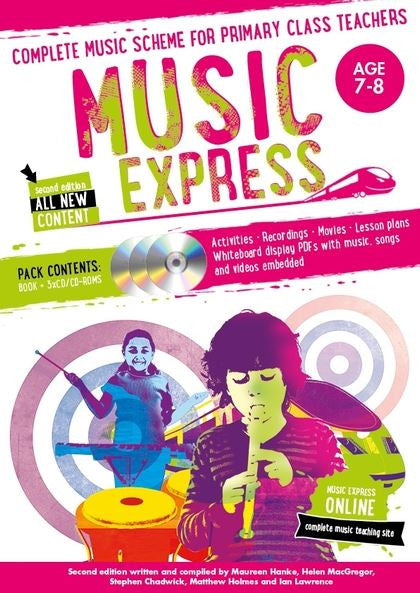 Music Express 3 : Age 7-8 (Book + 3CDs + DVD-ROM)