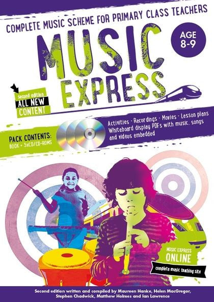 Music Express 4 : Age 8-9 (Book + 3CDs + DVD-ROM)