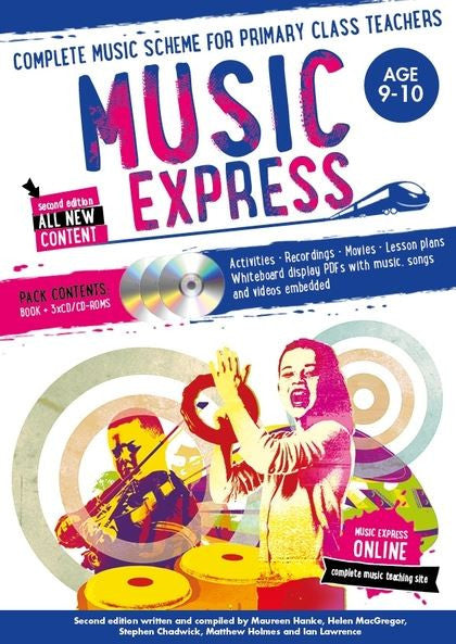 Music Express 5 : Age 9-10 (Book + 3CDs + DVD-ROM)