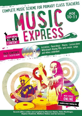 Music Express 6 : Age 10-11 (Book + 3CDs + DVD-ROM)