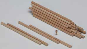 Beech rods (200 pcs)
