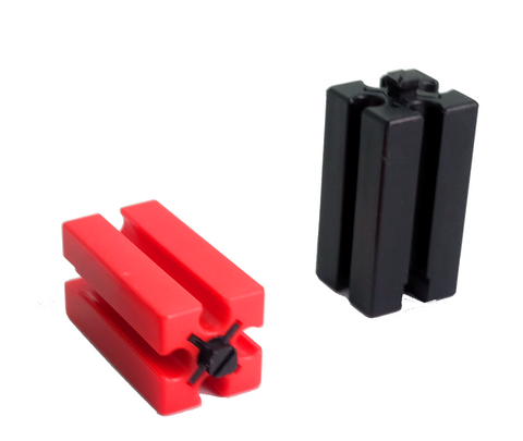 Building Block 30, red/ black/ yellow