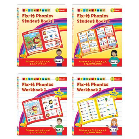 Level 1 Fix-it Phonics Student Pack (2nd edition)