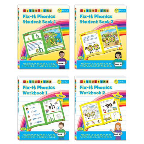 Level 2 Fix-it Phonics student pack (2nd edition)