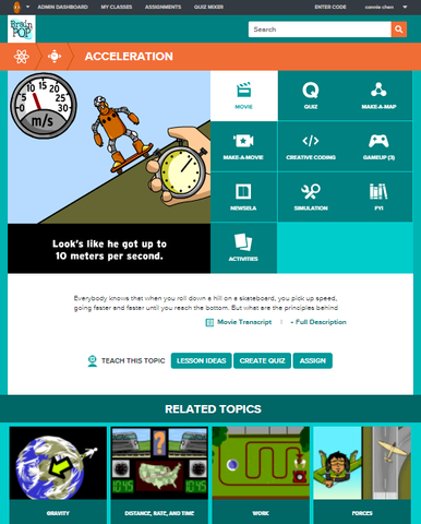 Physics @BrainPOP.com