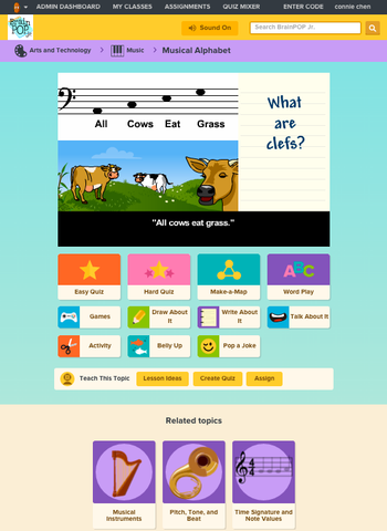 Art and Music @ BrainPOP Jr.