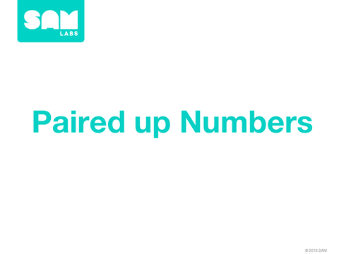 2.9 配對數字 Paired Up Numbers