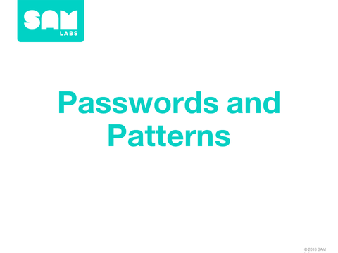 4.5  密碼與模式 Password and Patterns