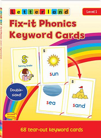 Level 1 Fix-it Phonics Keyword Cards (2nd Edition)