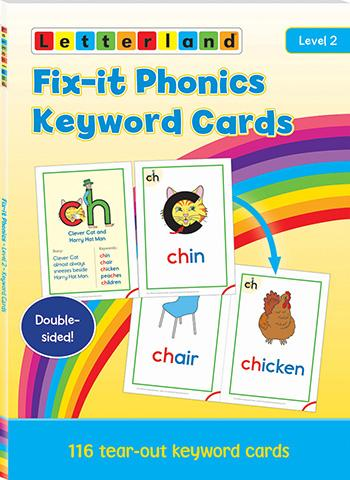 Level 2 Fix-it Phonics Keyword Cards (2nd Edition)