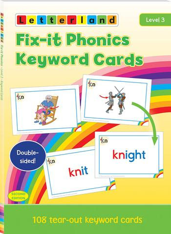 Level 3 Fix-it Phonics Keyword Cards (2nd Edition)