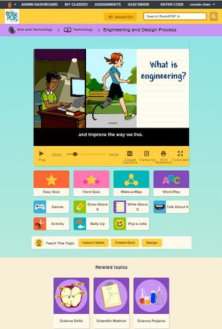 Computing /Technology @ BrainPOP Jr.