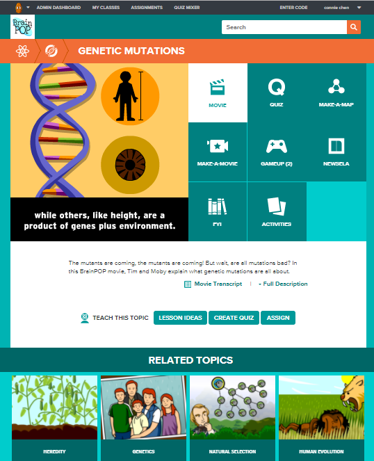Biology @BrainPOP.com