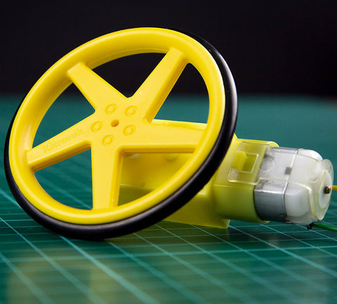 Yellow Wheels and Right Angle Geared TT Motors