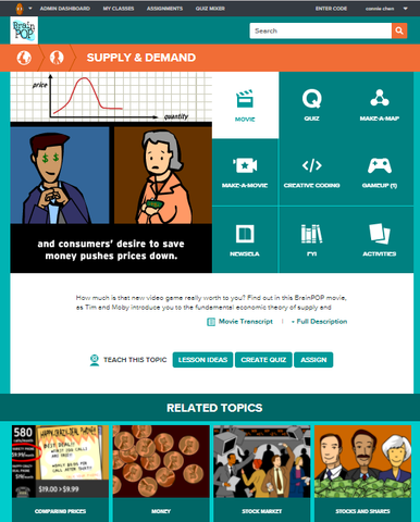 Economics @BrainPOP.com