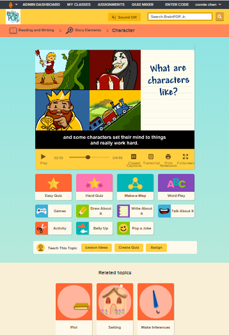 English @ BrainPOP Jr.