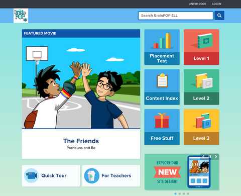 BrainPOP ELL (English Language Learning)