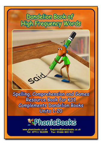 WR19 - Dandelion Book of High-frequency Words