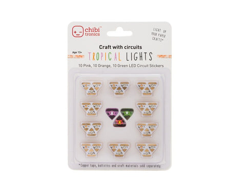 Tropical Lights Mega Pack (Pink, Orange and Green LED Stickers)