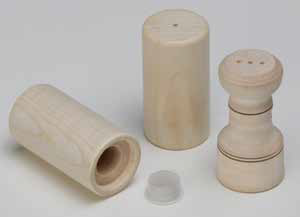Salt and pepper shaker blank (15 pcs)