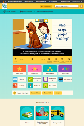 Social Studies @ BrainPOP Jr.
