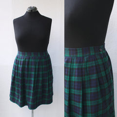 90s Plaid Flannel Short Skirt