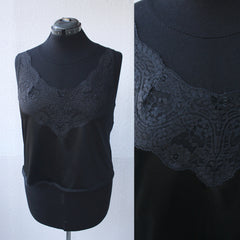 Cropped Black Lace Camisole