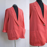 Coral Power Blazer