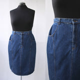 Dark Denim Pencil Skirt