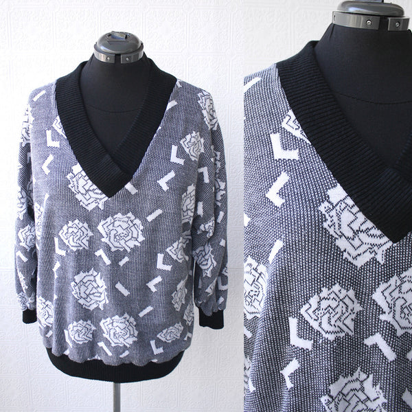 Digital Roses Pure 80s Knit Sweater
