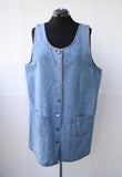 Denim Button Up Jumper Mini Dress