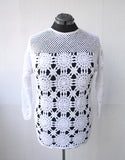 Crochet Cotton Sweater